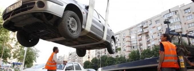 Maşinile parcate ilegal nu vor mai putea fi ridicate