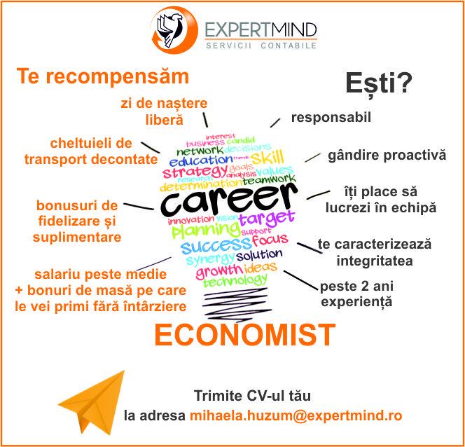 ExpertMind caută economist