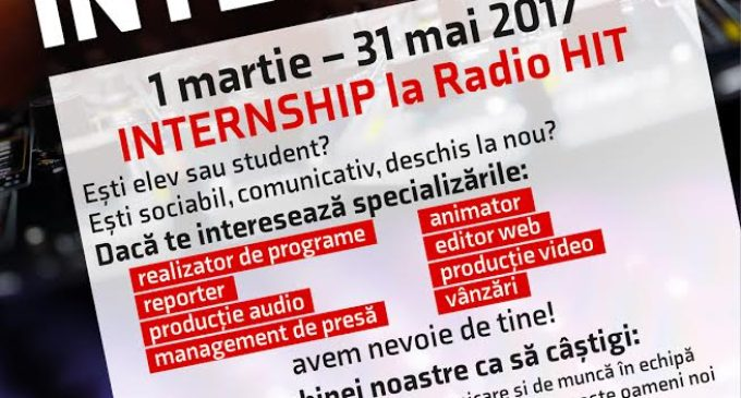 Internship plătit la Radio Hit
